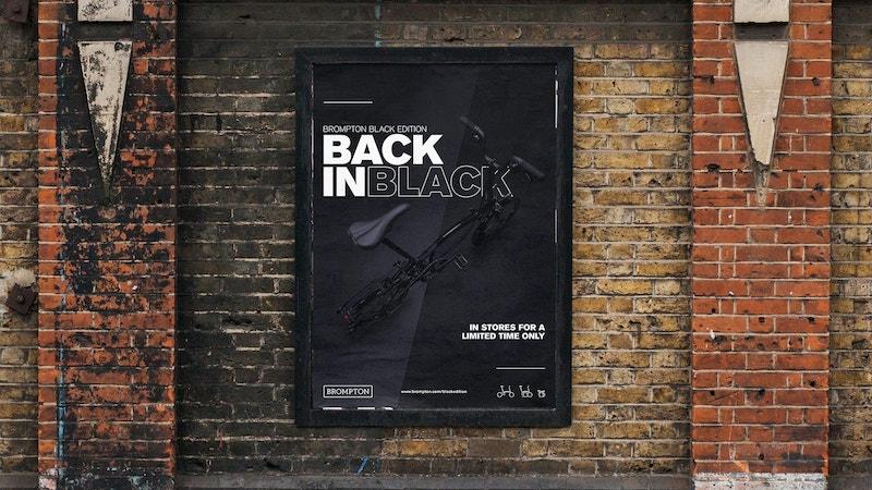 Brompton BIB 132 urban poster mockup