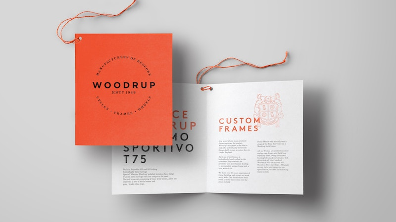 Brown Paper Bifold Card mockup